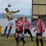 Joe Waters rises above Waggon Defence